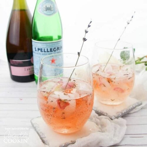 If you're looking for a classy and elegant cocktail recipe, look no further than our unique Lavender Rose Spritzer with fresh lavender, rose petals and sparkling rosé!