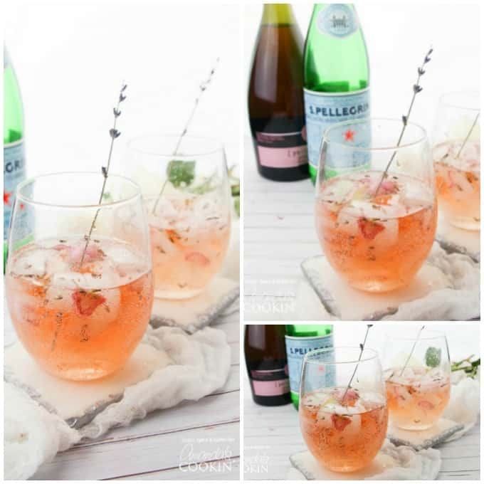 Lavender Rose Spritzers collage