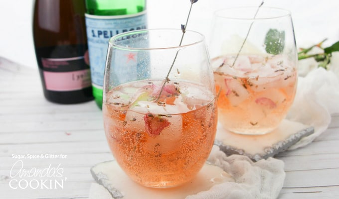 These Lavender Rose Spitzer cocktails are so unique and refreshing - perfect for adding a bit of whimsy to your get-together.