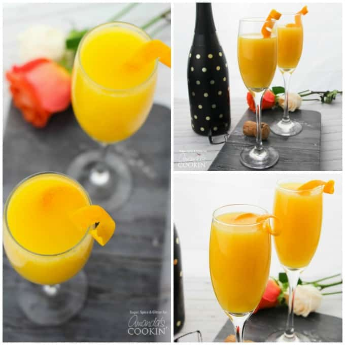 Mimosas Recipe collage