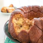 Monkey Bread: little bubbles of bread are coated in butter, cinnamon, and sugar. Crisp and caramelized on the outside but soft inside, this pull-apart bread is delicious breakfast or dessert!