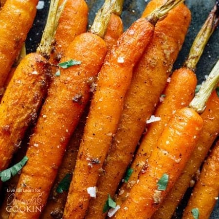 These Slow Cooker Balsamic Carrots are a hands-off dinner side dish that packs in tons of flavor (with minimal ingredients)!