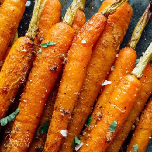 pile of cooked carrots