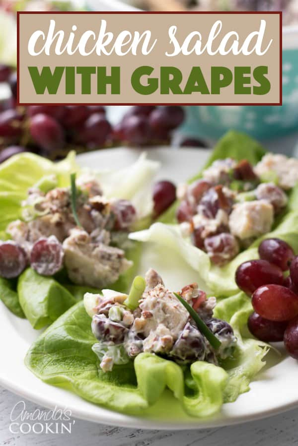 This chicken salad with grapes is the perfect summer salad. Bring it along to a potluck, BBQ, or holiday gathering and serve it up on a crisp lettuce leaf or sandwich bun!
