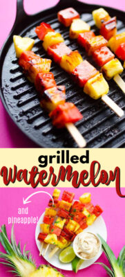 grilled watermelon pin image