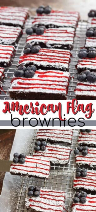 american flag brownies pin image