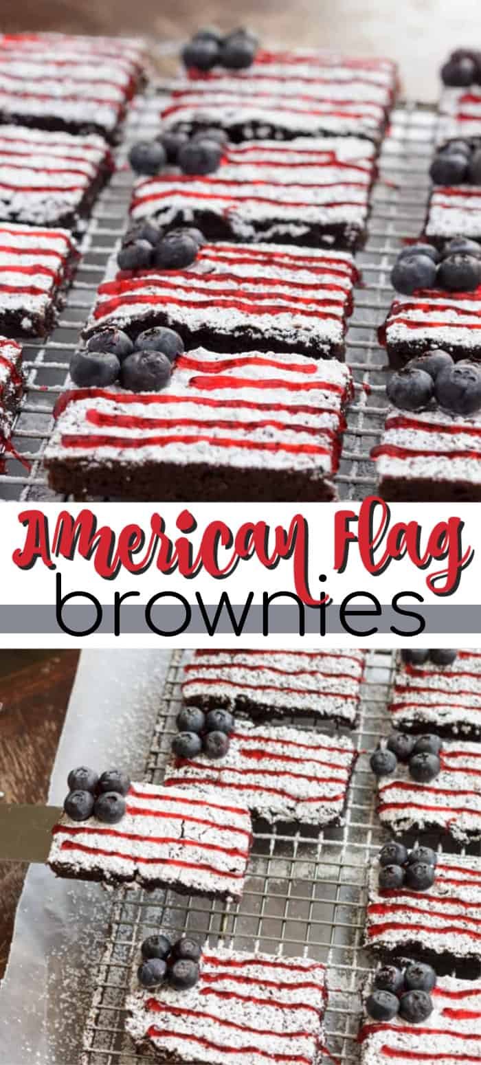 american flag brownies pin image