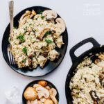 Looking for a cozy dinner that breaks from your usual routine while also being a total classic sure to please everyone? Meet Creamy Mushroom Risotto!
