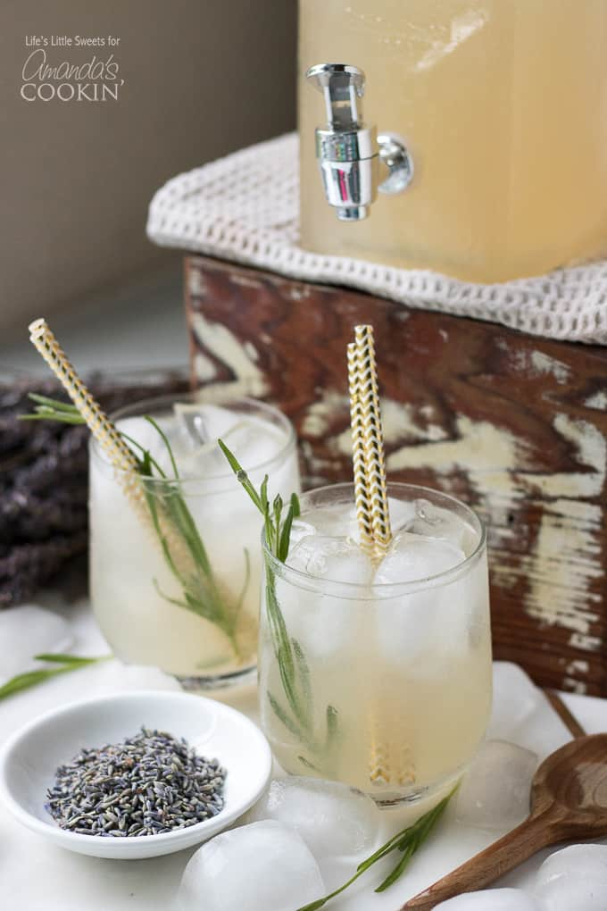 Not only is this lavender lemonade delicious, it's pretty too!
