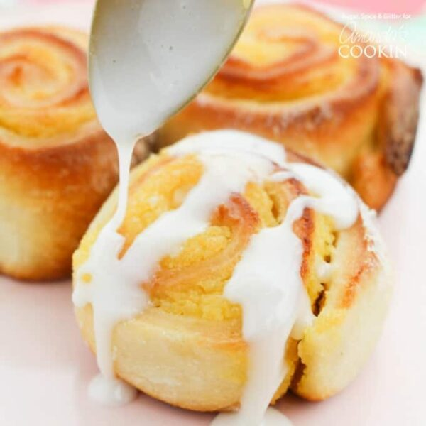A delicious summer dessert or brunch recipe, these lemon sweet rolls are easy to prepare in advance and serve warm or cold for just about any summer occasion.