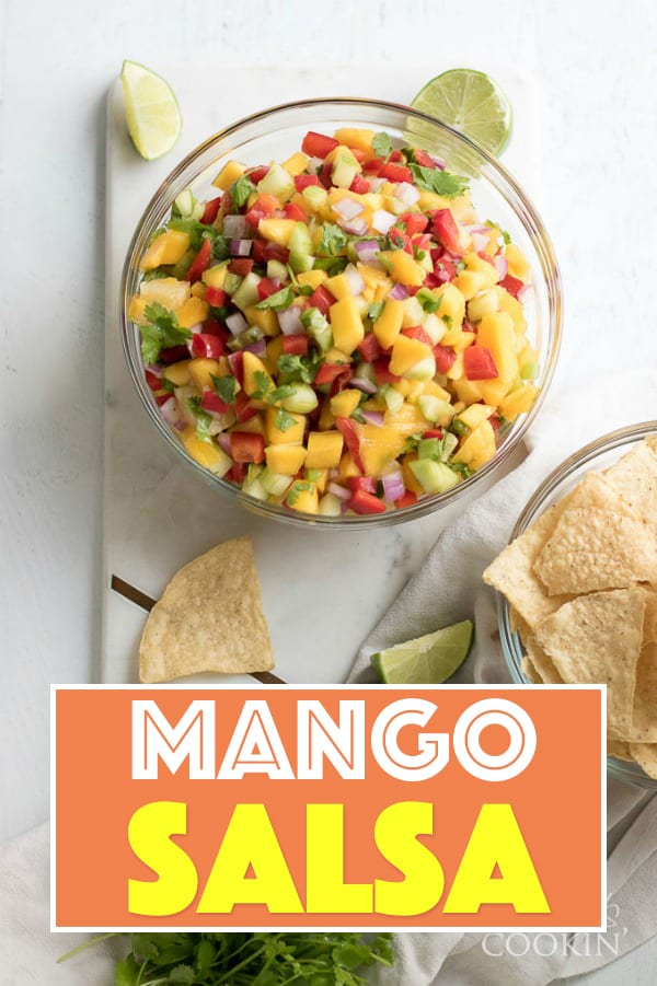 Delicious fresh ingredients combine to make this colorful mango salsa that is an absolute hit at parties. We give ideas for substitutions, but we know you'll love our version!
