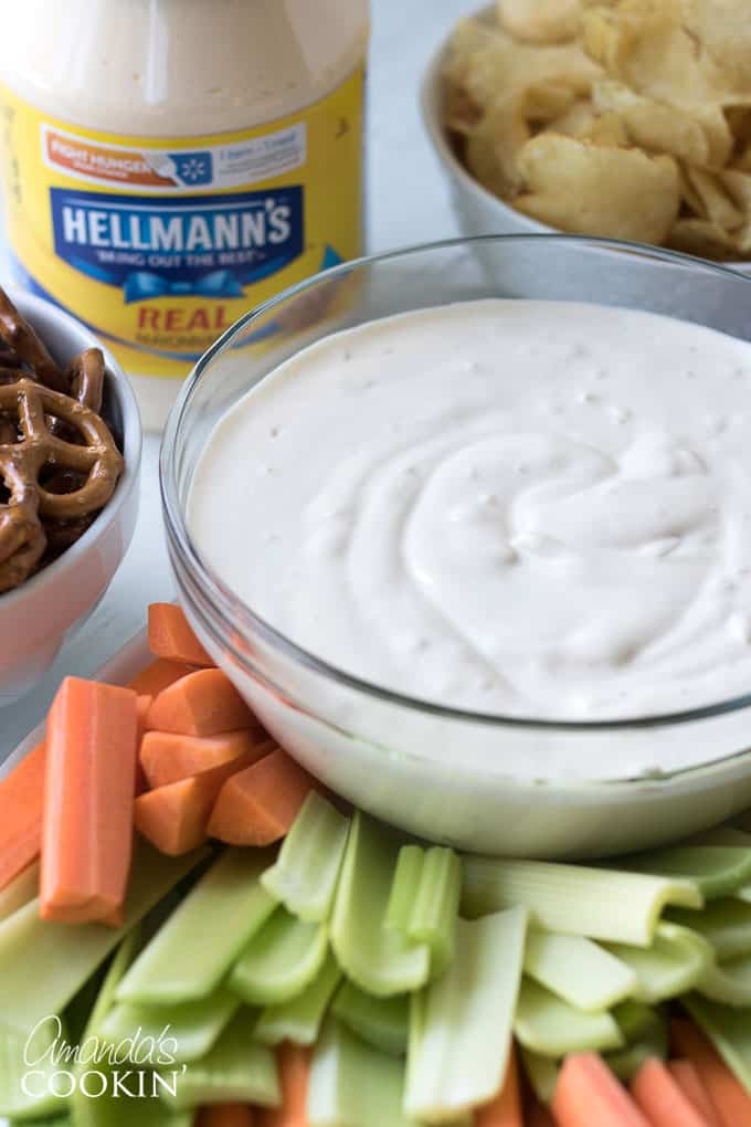 This Creamy Onion Dip is so easy to make and it's a classic for movie night, barbecues and parties!