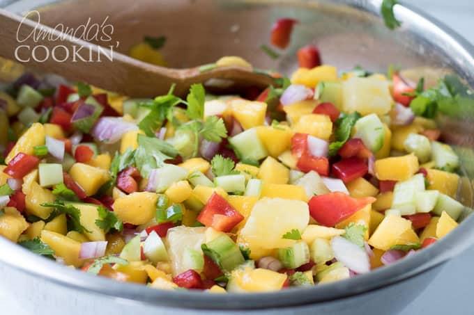 We love this fresh mango salsa