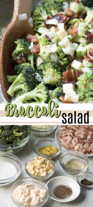 broccoli salad pin image