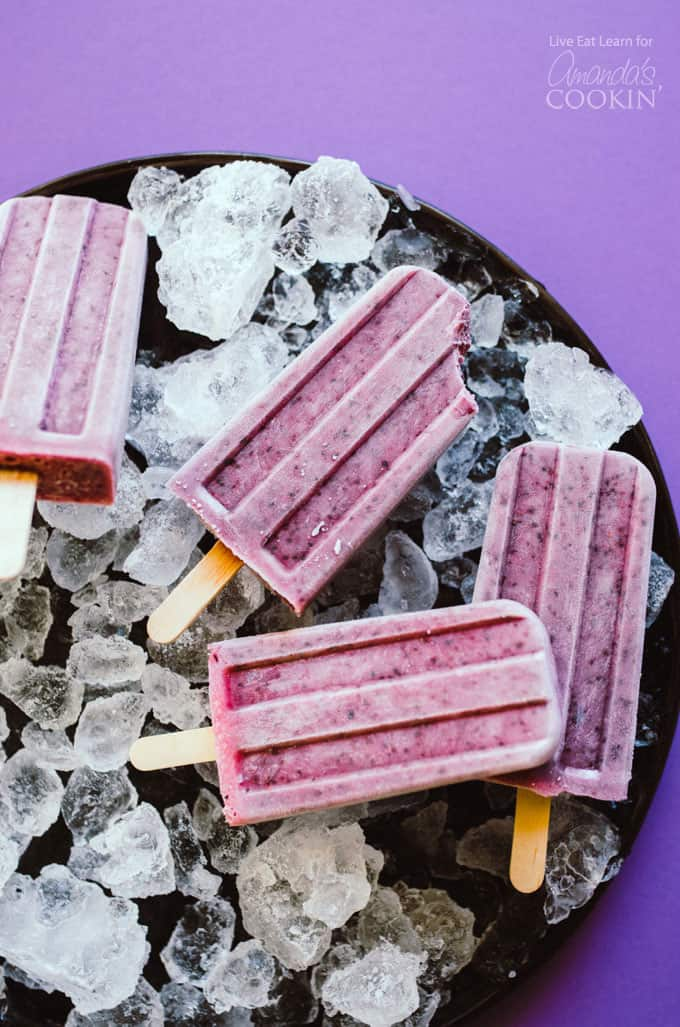 These Blueberry Cheesecake Popsicles are a simple and delicious treat to whip up this summer