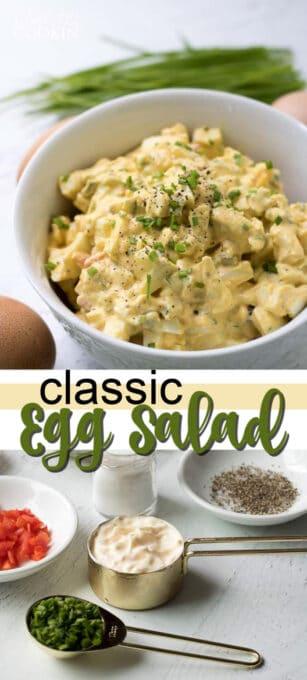 classic egg salad pin image