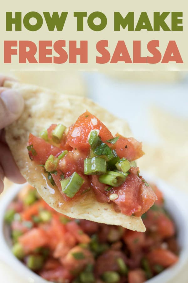 salsa made with fresh tomatoes