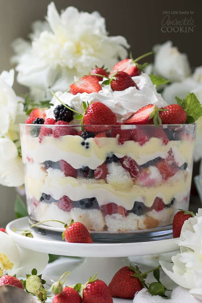 Mixed summer berry trifle: the perfect no-bake dessert for summer gatherings.
