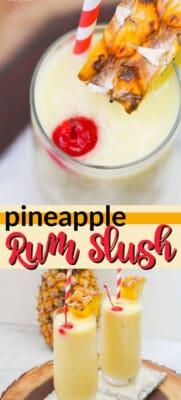 pineapple rum slush pin image