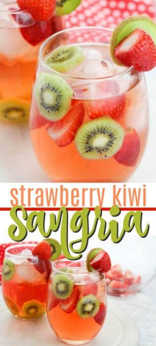 strawberry kiwi sangria pin image