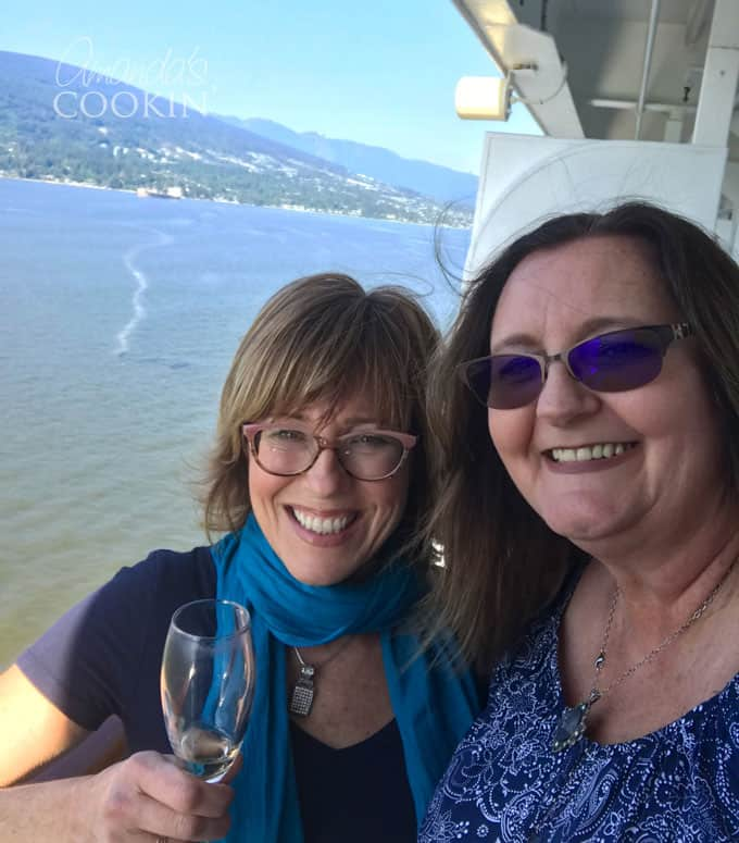Jackie and Amanda on an Alaskan Cruise with Princess Cruises