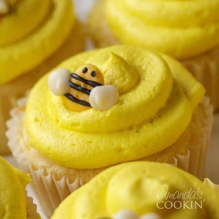 Adorable bee cupcake toppers made at home