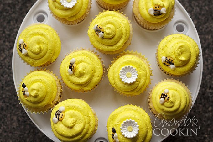 Homemade Bee Cupcake Toppers