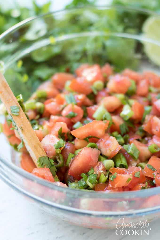 Mix all the salsa ingredients together