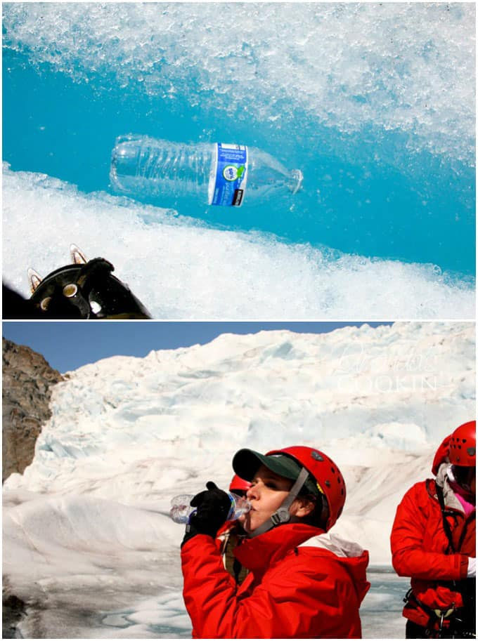 DRINKING GLACIER WATER - MENDENHALL GLACIER HELICOPTER TOUR