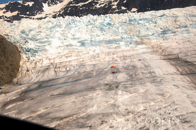 VIEW FROM MENDENHALL GLACIER HELICOPTER TOUR