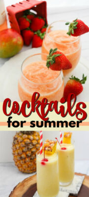 alcoholic drinks for summer pin image