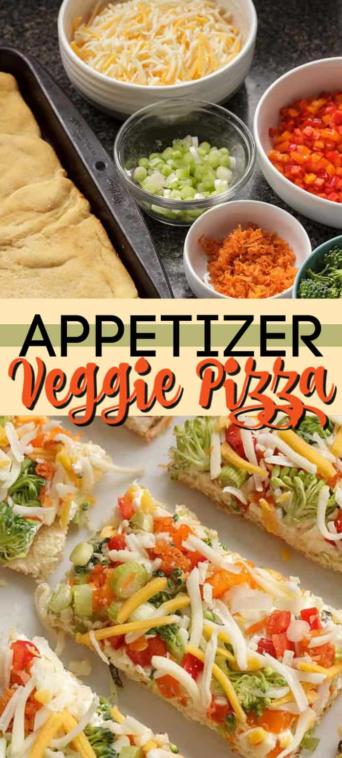 appetizer veggie pizza pin image