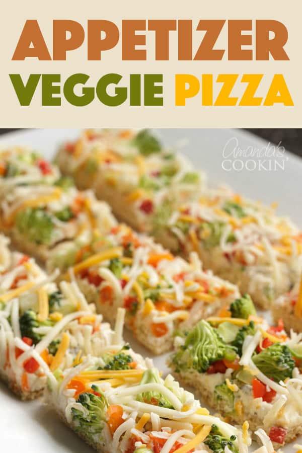 Appetizer Veggie Pizza Recipe