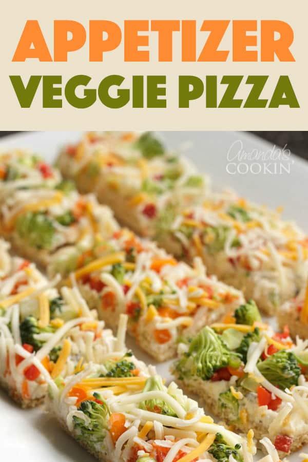 Appetizer Veggie Pizza