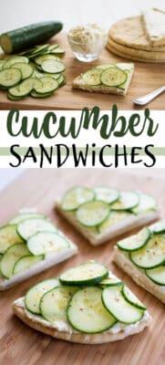 cucumber sandwiches pin image