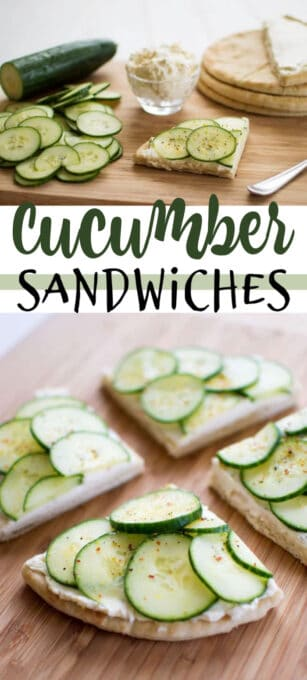 cucumber sandwiches pin image