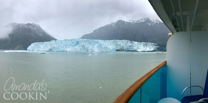 view from balcony glacier bay