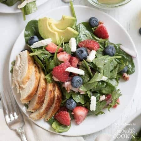 Strawberry Salad on a plate