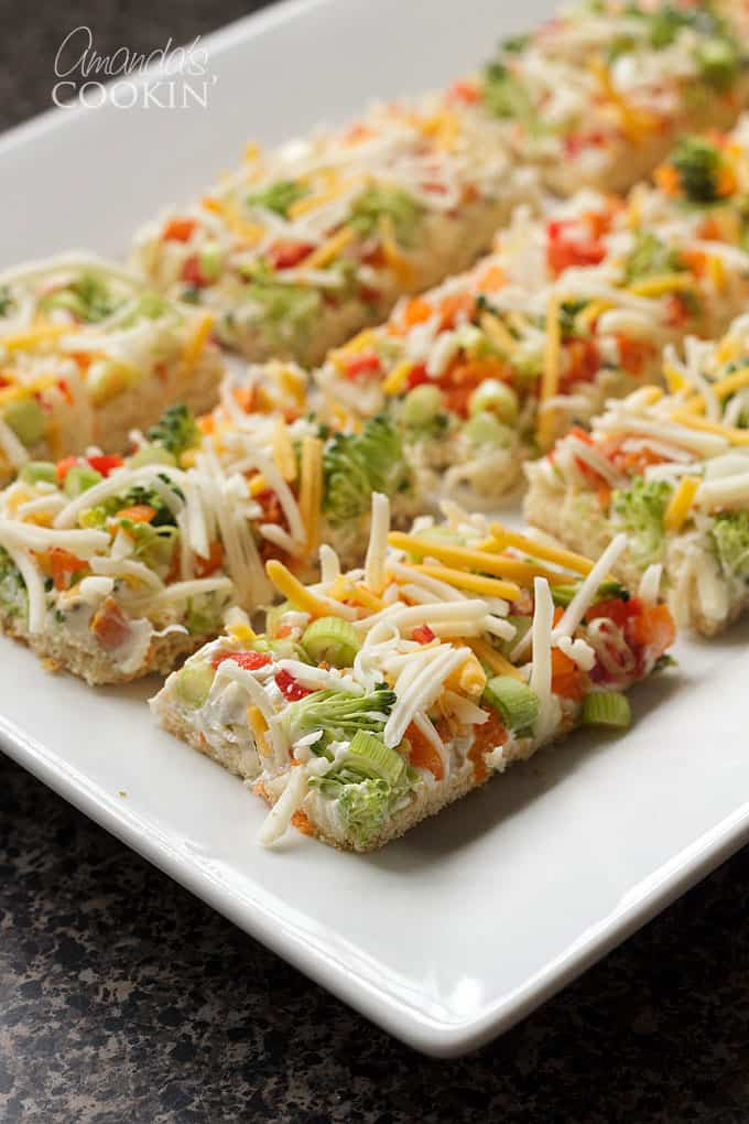 Appetizer Veggie Pizza