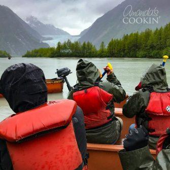 Davidson Glacier canoe tour Skagway, Alaska