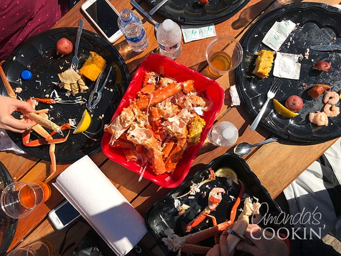 Seafood feast at Icy Strait Point