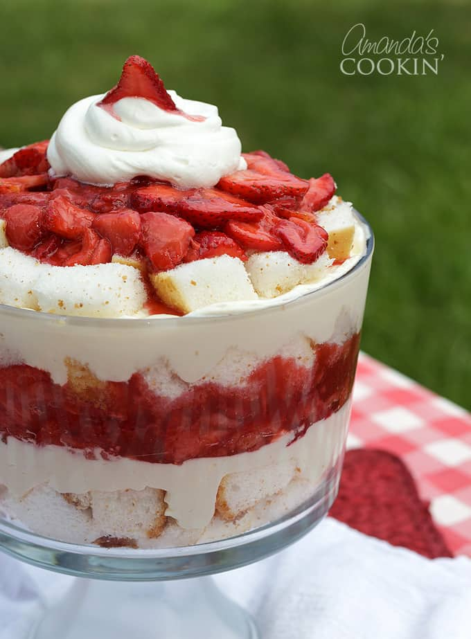 strawberry shortcake trifle dessert
