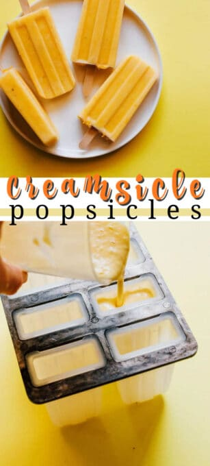 creamsicle popsicles pin image