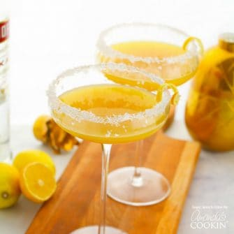 This Lemon Drop Cocktail is a sweet and tart cocktail perfect for a ladies' night or after dinner cocktails, making the perfect alcoholic dessert.
