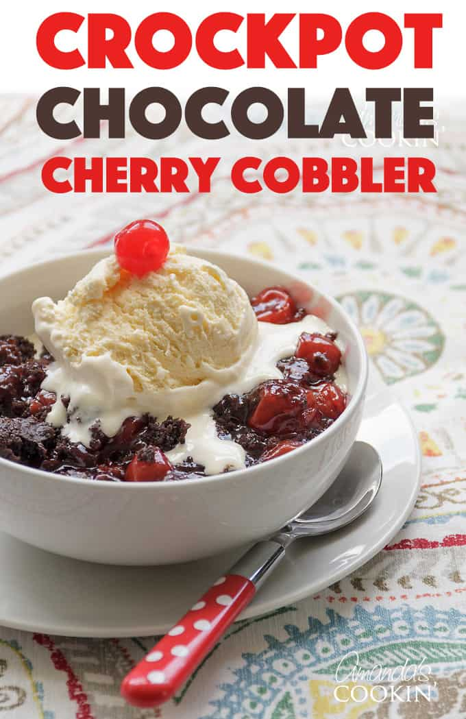 crockpot chocolate cherry cobbler