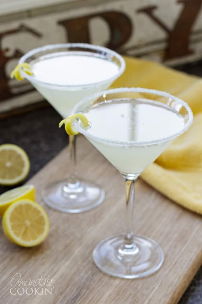 lemon drop cocktail martinis