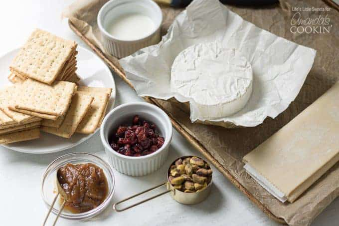 Ingredients for Baked Brie