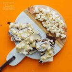 Crunchy popcorn chocolate bark- great for the holidays!