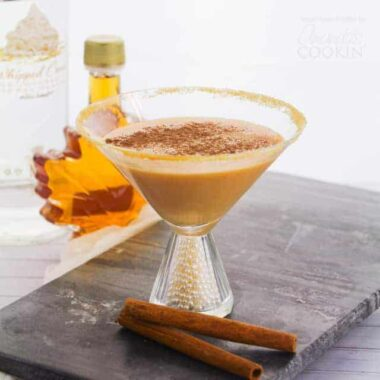 This Pumpkin Pie Martini is a delicious dessert cocktail is perfect for fall gatherings like Thanksgiving or even Halloween parties!