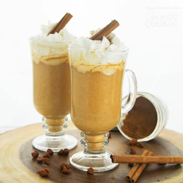 Our Pumpkin Spice Hot Chocolate made with real chocolate and milk is a creamy and delicious treat perfect for warming up on a brisk fall day.